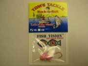 Fish Vision Rock-n-Roll Jigs (UV Pink #6) 2 Pack!