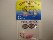 Fish Vision Jig-oBit Jigs (UV Hot Pink # 6) 2 Pack!