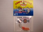 Fish Vision Choker Jigs (UV ORANGE 1/8 oz.) 2 Pack!
