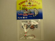Fish Vision Rock-n-Roll Jigs (UV White #6) 2 Pack!
