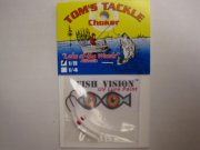 Fish Vision Choker Jigs (UV WHITE 1/8 oz.) 2 Pack!